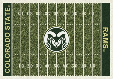 Colorado State Rams Home Field Area Rug - Football Logo