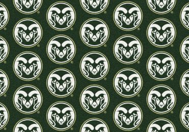 Colorado State Rams Repeat Logo Area Rug - College Mat