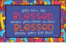 Indoor & Outdoor Colorful Crosses MatMate Doormat - 18 x 30