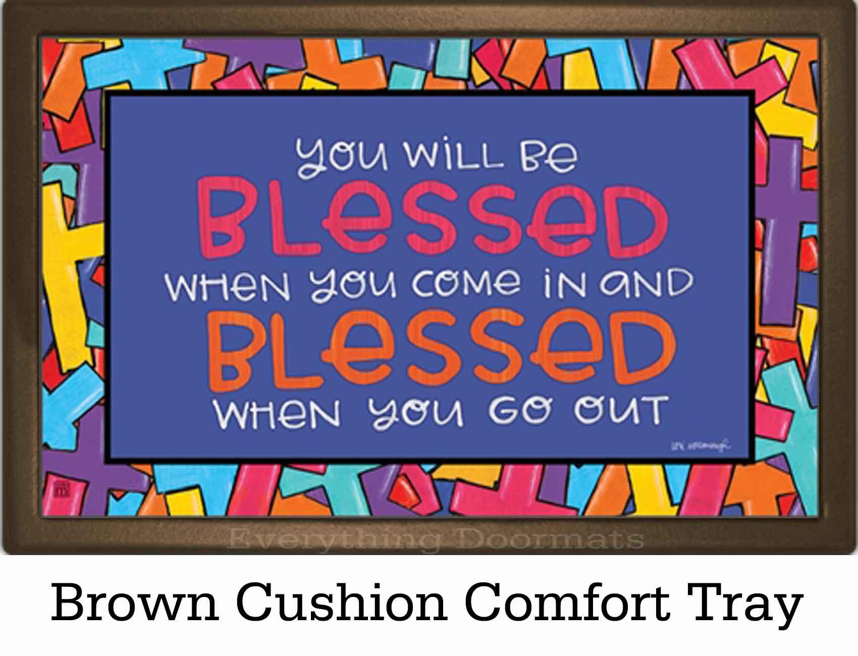 Indoor Outdoor Colorful Crosses Matmate Doormat 18 X 30