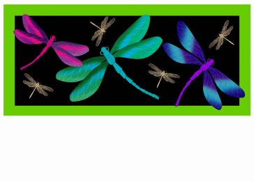 Sassafras Colorful Dragonflies Switch Doormat - 10 x 22 Insert