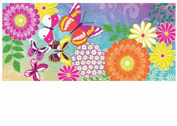 Sassafras Colorful Flowers Switch Mat-10x22 Insert Doormat