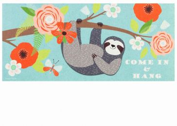 Sassafras Come in and Hang Sloth Switch Mat - 10 x 22 Insert
