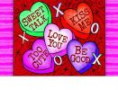 Indoor & Outdoor Conversation Hearts Insert Doormat - 18 x 30