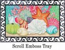 Indoor & Outdoor Coral & Seashells Insert Doormat – 18x30