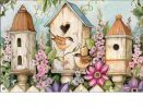 Indoor & Outdoor Cottage Birdhouses MatMates Doormat