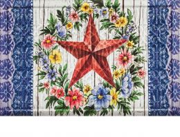 Trellis Embossed Summer Country Star Doormat - 19 x 30