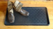 Cross Check Embossed Natural Rubber Boot Tray - 32 x 16 x 1