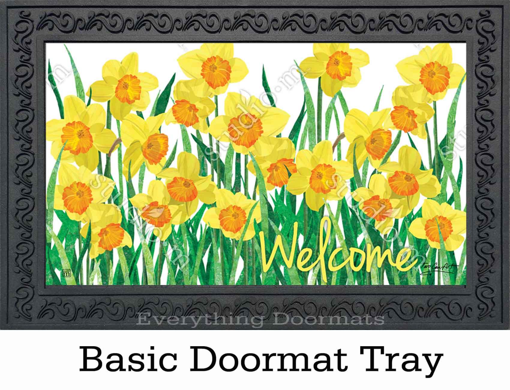 Indoor Amp Outdoor Daffodils In Bloom Matmate Doormat 18x30