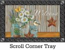 Indoor & Outdoor Daisy Jars Insert Doormat-18x30