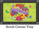Indoor & Outdoor Daisy Wreath Insert Doormat-18x30