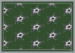 Dallas Stars NHL Repeating Logo Area Rug