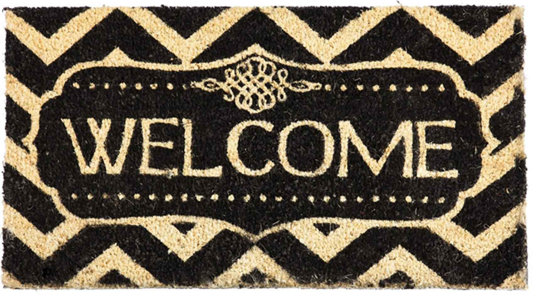 coco coir decorative welcome backed doormat 16 x 28