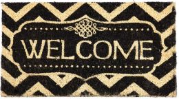 Coco Coir Decorative Welcome Backed Doormat - 16 x 28