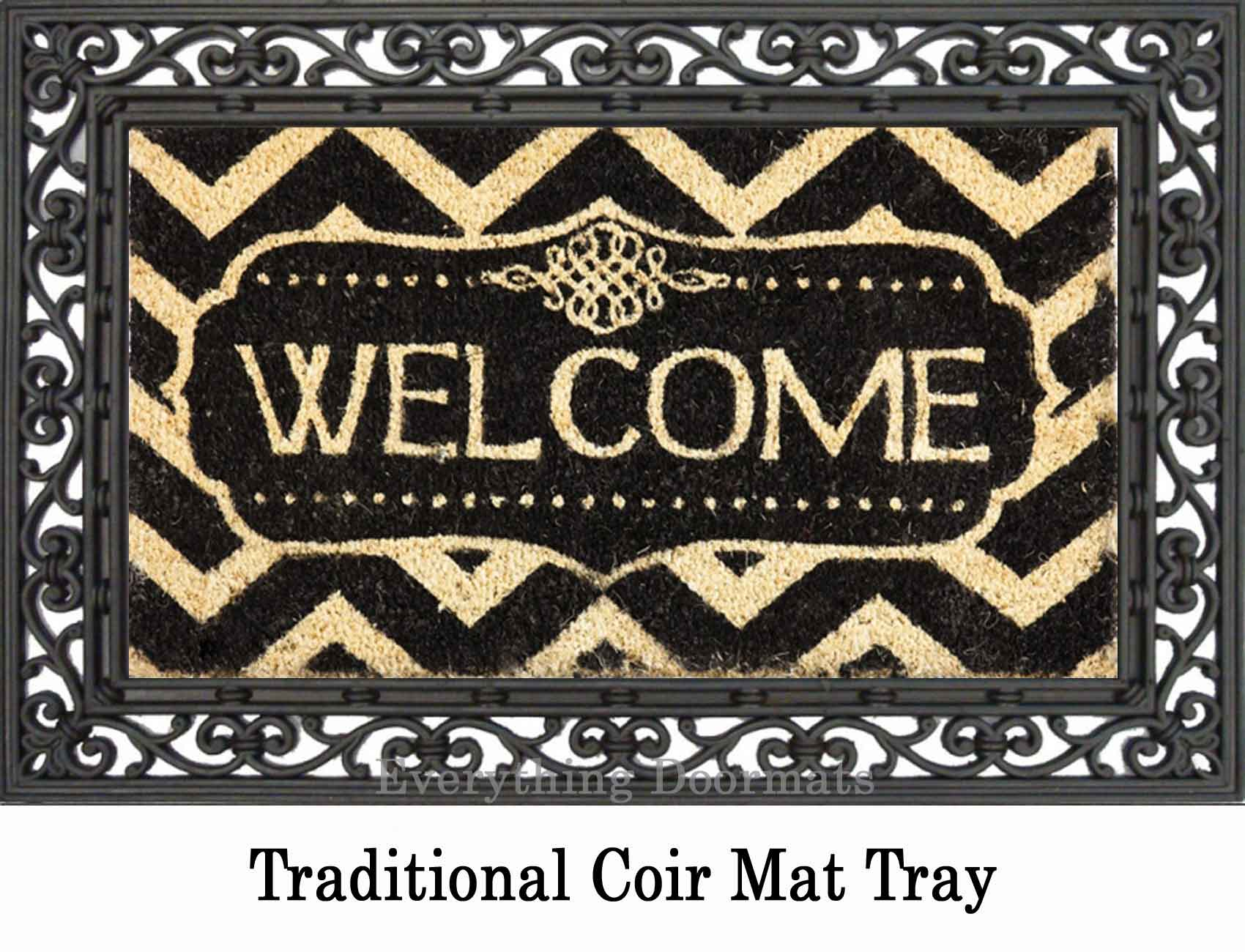 Coco Coir Decorative Welcome Backed Doormat 16 X 28