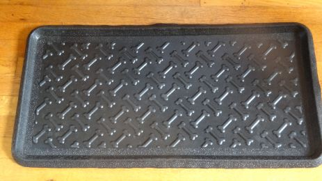 Dog Bone Embossed Natural Rubber Boot Tray - 32 x 16 x 1