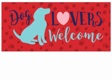 Sassafras Dog Lovers Welcome Switch Doormat - 10 x 22 Insert