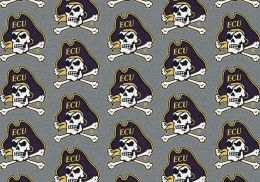 East Carolina Pirates Repeat Logo Area Rug - College Mat