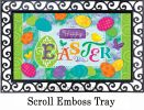 Indoor & Outdoor Easter Eggs Insert Doormat - 18x30