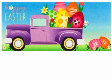 Sassafras Easter Egg Truck Switch Doormat - 10 x 22 Insert