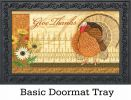 "Indoor & Outdoor Elegant Turkey Insert Doormat - 18"" x 30"""