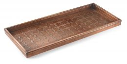 Embossed Circles Copper Finished Boot Tray - 34 x 14 x 2.5