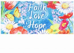 Sassafras Faith Hope Love Sassafras Mat - 10 x 22 Insert