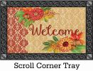 Indoor & Outdoor Fall Damask Insert Doormat - 18x30