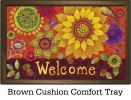 Indoor & Outdoor Fall Floral Insert Doormat - 18x30