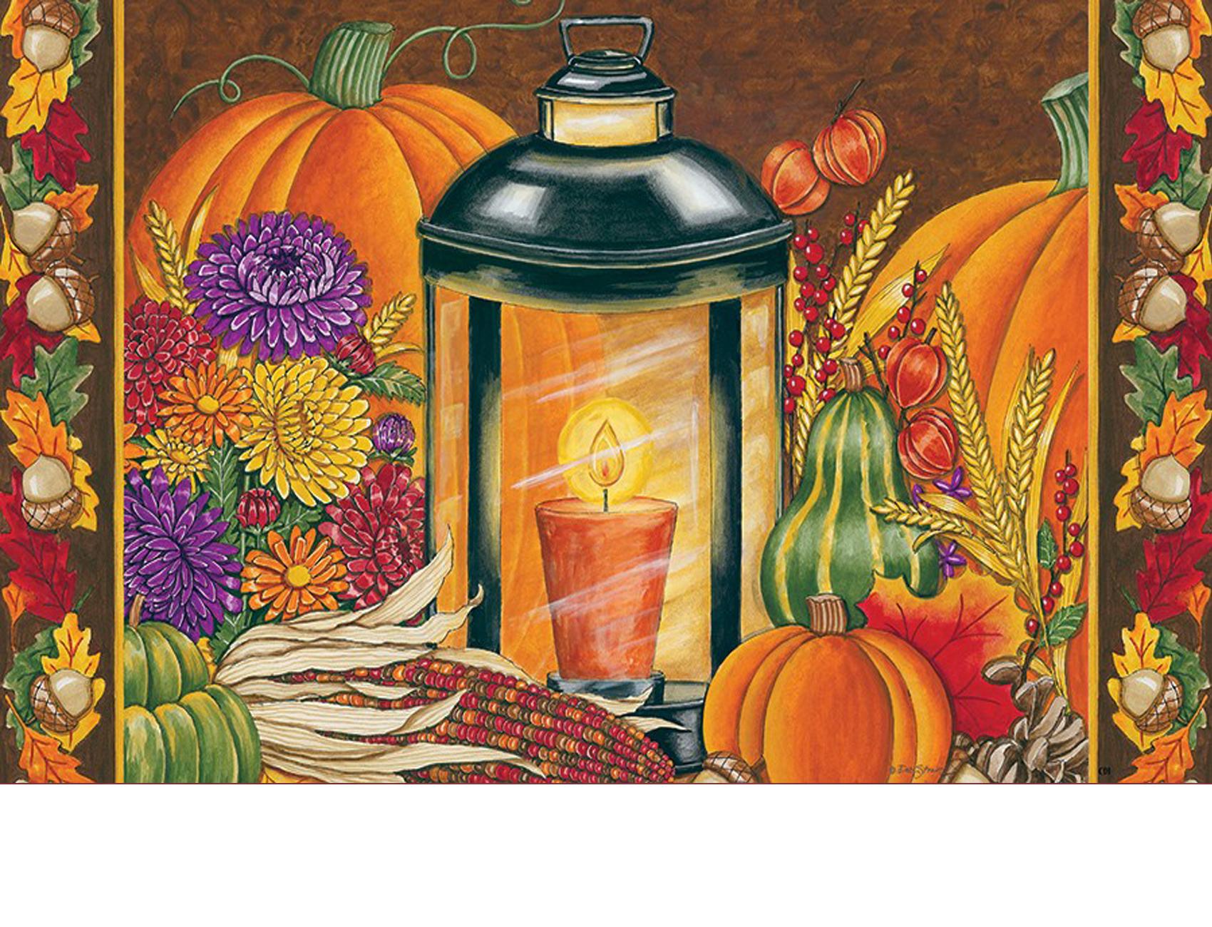 Indoor Amp Outdoor Fall Lantern Insert Doormat 18 Quot X 30 Quot