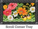 Indoor & Outdoor Fancy Floral MatMate Doormat-18x30