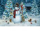 Indoor & Outdoor Festive Snowman Insert Doormat - 18x30