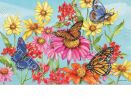 Indoor & Outdoor Field of Butterflies MatMates Doormat-18x30