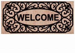Sassafras Filigree Welcome Switch Mat - 10 x 22 Doormat