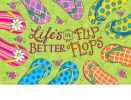 Indoor & Outdoor Flip Flop Fun Insert Doormat-18x30