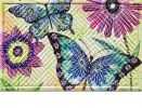 Hatch Embossed Floral Flight Doormat - 19 x 30