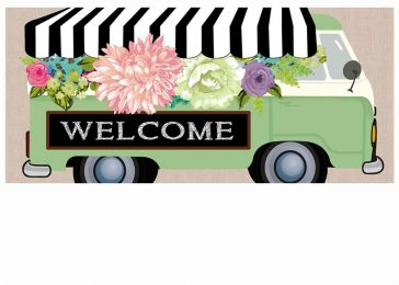 Sassafras Flower Truck Switch Mat - 10 x 22 Insert