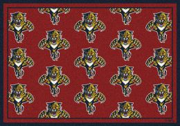 Florida Panthers Repeating Logo Area Rug