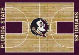 FSU Seminoles Basketball Home Court Nylon Area Rug