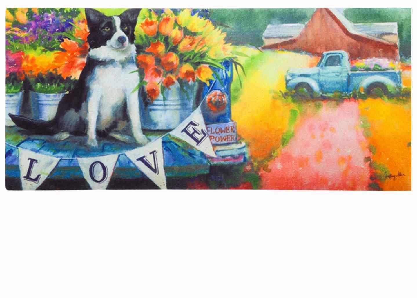 Sassafras Flower Truck Amp Dog Mat 10 X 22 Insert Doormat