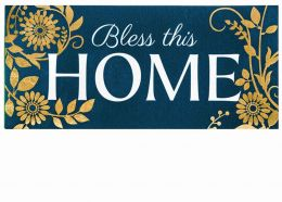 Sassafras Foil Bless this Home Switch Mat - 10 x 22 Insert
