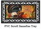 Sassafras Food Family Football Switch Doormat - 10 x 22