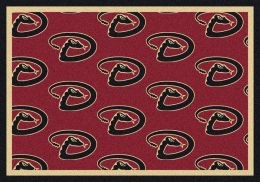 Arizona Diamondbacks MLB Repeating Logo Nylon Area Rug