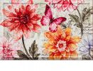 Floral Embossed Fresh Dahlias Doormat - 19 x 30
