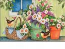 Indoor & Outdoor Front Porch Flowers MatMates Doormat
