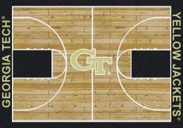 Georgia Tech Yellow Jackets Basketball Home Court Nylon Area Rug