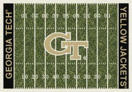Georgia Tech Yellow Jackets Home Field Area Rug - Football Logo