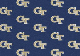 Georgia Tech Yellow Jackets Repeat Logo Area Rug - College Mat