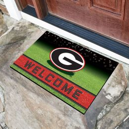 Georgia  University Flocked Rubber Doormat - 18 x 30