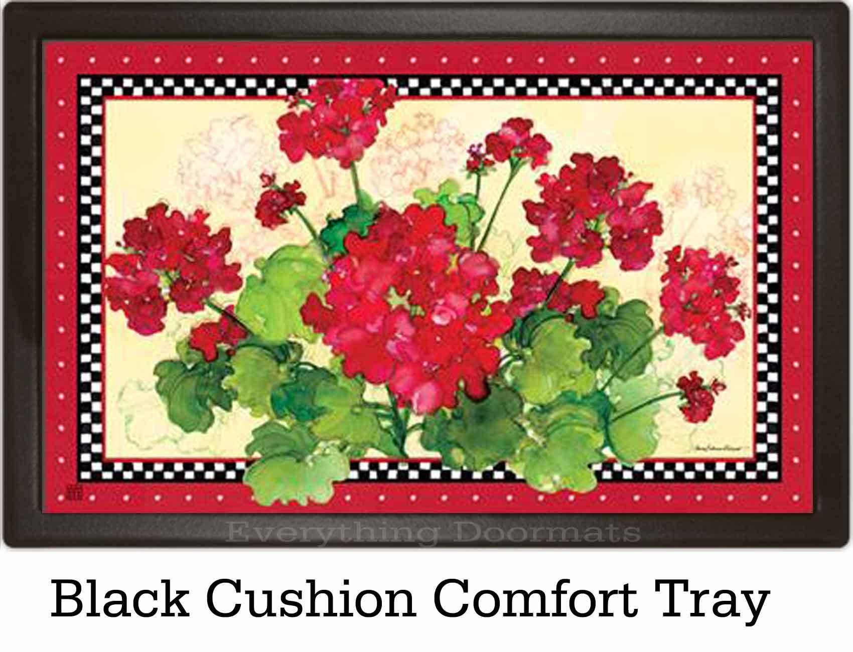 indoor u0026 outdoor geraniums u0026 checks matmate doormat